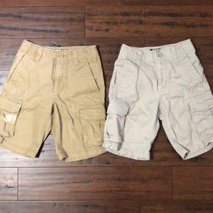 Bundle of 2 boys cargo shorts, size 10